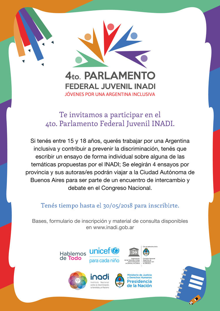 4to Parlamento Federal Juvenil INADI