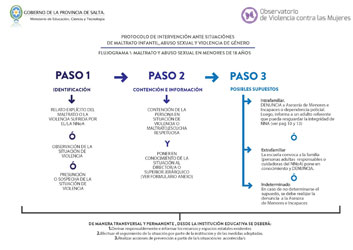 Flujograma Protocolo de intervención ante situaciónes de Maltrato Infantil, Abuso Sexual y Violencia de Género