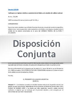 Disposición Conjunta Nº 405-19 DGEPyEI-DGES-DGETP-DGEPJA