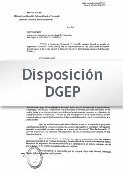 Disposición N° 086-20 - DGEP