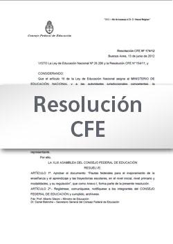 Resolución CFE N° 256-15