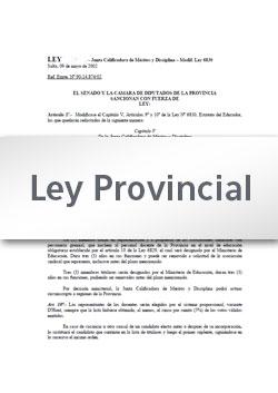 Ley 7997 · Adhiere la provincia de Salta a la Ley Nacional Nº 27306