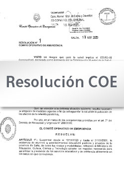 Resolución Nº 39/2020 COE