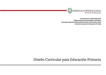 Dise o curricular para educaci n primaria for Diseno curricular primaria